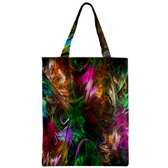 Fractal Texture Abstract Messy Light Color Swirl Bright Zipper Classic Tote Bag