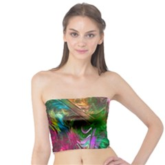 Fractal Texture Abstract Messy Light Color Swirl Bright Tube Top