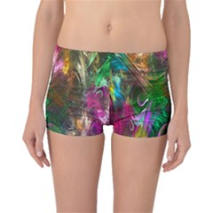 Fractal Texture Abstract Messy Light Color Swirl Bright Boyleg Bikini Bottoms