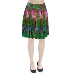 Fractal Texture Abstract Messy Light Color Swirl Bright Pleated Skirt