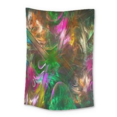 Fractal Texture Abstract Messy Light Color Swirl Bright Small Tapestry