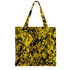 Test Steven Levy Zipper Grocery Tote Bag