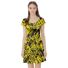 Test Steven Levy Short Sleeve Skater Dress