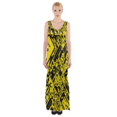 Test Steven Levy Maxi Thigh Split Dress