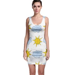 Sunshine Tech White Sleeveless Bodycon Dress