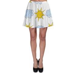 Sunshine Tech White Skater Skirt