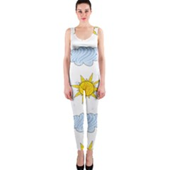 Sunshine Tech White OnePiece Catsuit