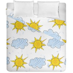Sunshine Tech White Duvet Cover Double Side (california King Size)