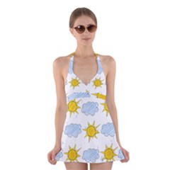 Sunshine Tech White Halter Swimsuit Dress