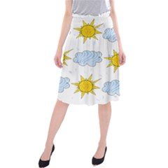 Sunshine Tech White Midi Beach Skirt