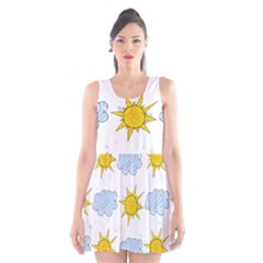 Sunshine Tech White Scoop Neck Skater Dress