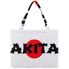 Akita Name On Flag Mini Tote Bag