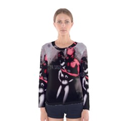 Bescaredduv Women s Long Sleeve Tee