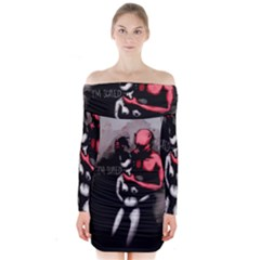 Bescaredduv Long Sleeve Off Shoulder Dress