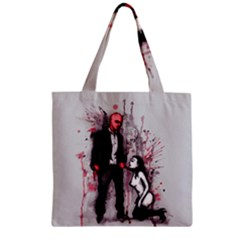 Say Please Zipper Grocery Tote Bag