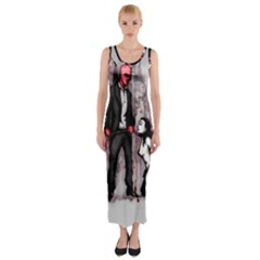 Say Please Fitted Maxi Dress