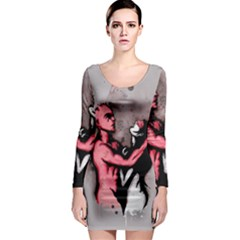 Come Play Long Sleeve Bodycon Dress