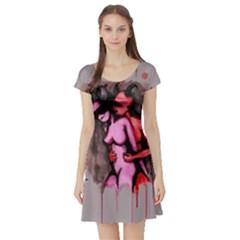 Whisper Short Sleeve Skater Dress