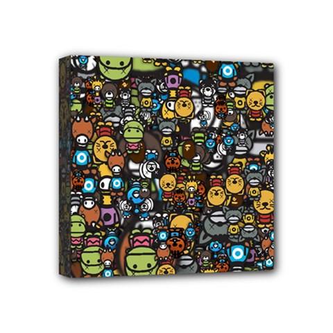 Many Funny Animals Mini Canvas 4  x 4