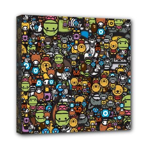 Many Funny Animals Mini Canvas 8  x 8