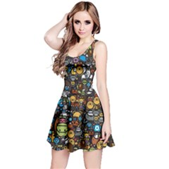 Many Funny Animals Reversible Sleeveless Dress