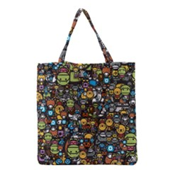 Many Funny Animals Grocery Tote Bag