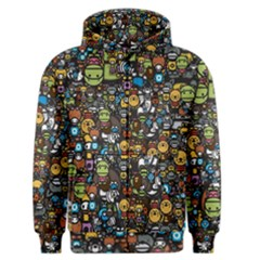 Many Funny Animals Men s Zipper Hoodie