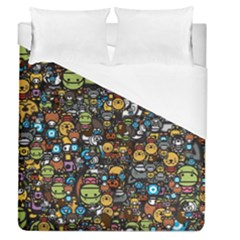 Many Funny Animals Duvet Cover (queen Size)