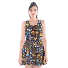 Many Funny Animals Scoop Neck Skater Dress