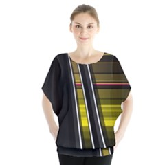 Abstract Multicolor Vectors Flow Lines Graphics Blouse