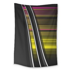 Abstract Multicolor Vectors Flow Lines Graphics Large Tapestry