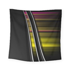 Abstract Multicolor Vectors Flow Lines Graphics Square Tapestry (Small)