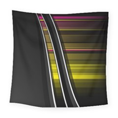 Abstract Multicolor Vectors Flow Lines Graphics Square Tapestry (Large)