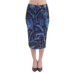 Art And Light Dorothy Velvet Midi Pencil Skirt