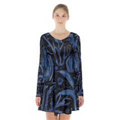 Art And Light Dorothy Long Sleeve Velvet V Neck Dress
