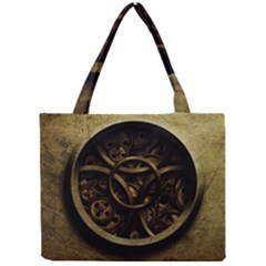 Abstract Steampunk Textures Golden Mini Tote Bag