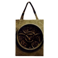 Abstract Steampunk Textures Golden Classic Tote Bag