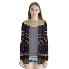 Abstract Steampunk Textures Golden Cardigans