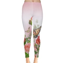 Flora Butterfly Roses Leggings