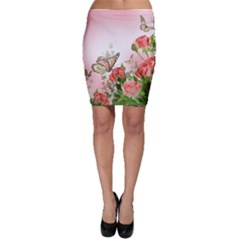 Flora Butterfly Roses Bodycon Skirt