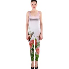Flora Butterfly Roses OnePiece Catsuit