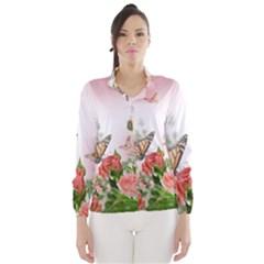 Flora Butterfly Roses Wind Breaker (Women)