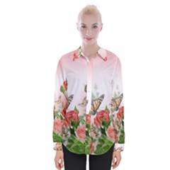 Flora Butterfly Roses Shirts