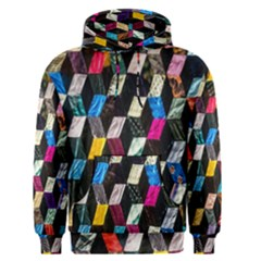 Abstract Multicolor Cubes 3d Quilt Fabric Men s Pullover Hoodie