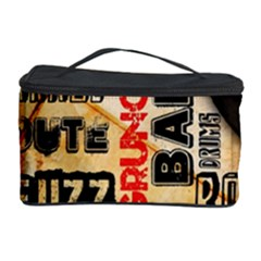Guitar Typography Cosmetic Storage Case