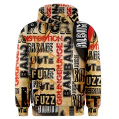 Guitar Typography Men s Zipper Hoodie