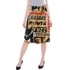 Guitar Typography Midi Beach Skirt