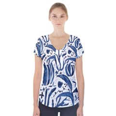Art And Light Dorothy Short Sleeve Front Detail Top