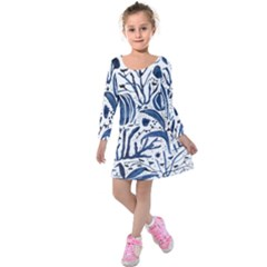 Art And Light Dorothy Kids  Long Sleeve Velvet Dress