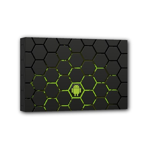 Green Android Honeycomb Gree Mini Canvas 6  x 4